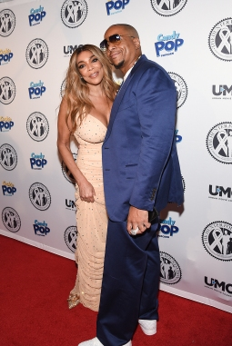 Wendy Williams and husband Kevin Hunter attend Wendy Williams Birthday Party and The Hunter Foundation Give Back Gala 2018 on July 18, 2018 at The Hammerstein Ballroom within the Manhattan Center Studios in New York City, USA. (Photo by Daniela Kirsch/NameFace/Sipa USA)(Sipa via AP Images)